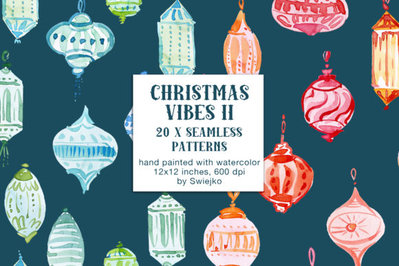 Print on Demand: Christmas Vibes II, Seamless Patterns Graphic Patterns By swiejko