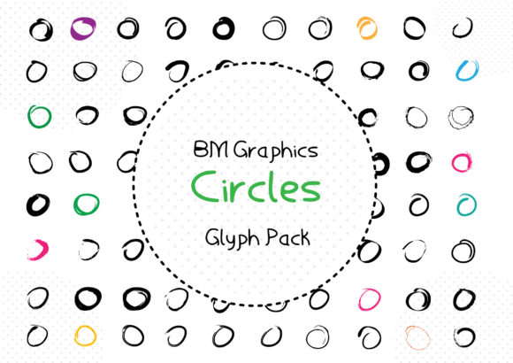 Print on Demand: BM Graphics - Circles 2 Dingbats Font By GraphicsBam Fonts