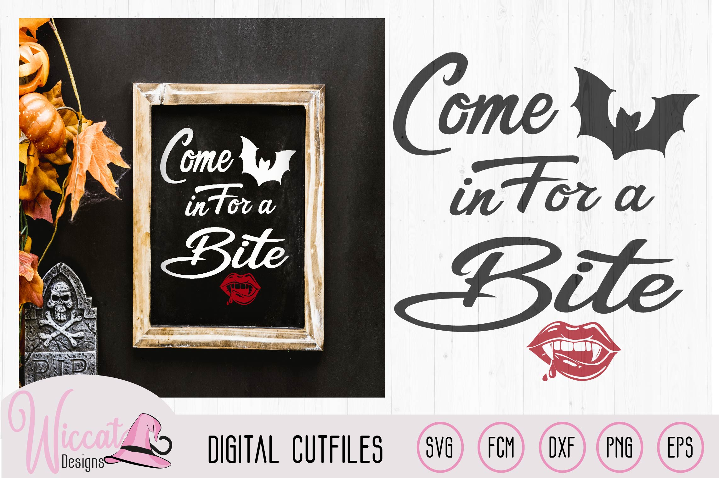 Download Free Come In For A Bite Doormat Quote Hall Graphic By Wiccatdesigns for Cricut Explore, Silhouette and other cutting machines.