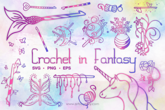 Print on Demand: Crochet Hooks in Fantasy Illustration Graphic Illustrations By artsbynaty