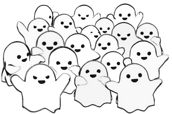 Print on Demand: Crowd of Cute Kawaii Ghosts Gráfico Ilustraciones Por Milaski