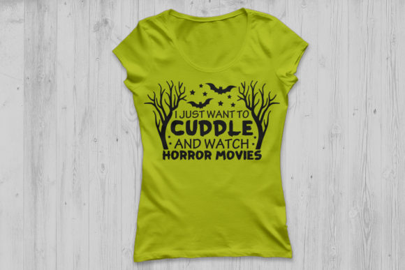 Download Free Cuddle And Watch Horror Movies Svg Graphic By Cosmosfineart for Cricut Explore, Silhouette and other cutting machines.