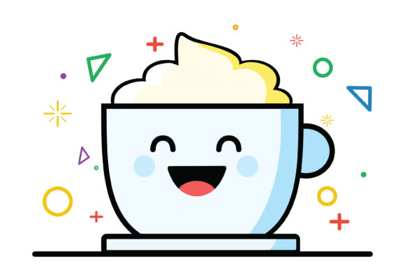 Print on Demand: Cute Coffee Cup Illustration Graphic Icons By MikeToon Studio