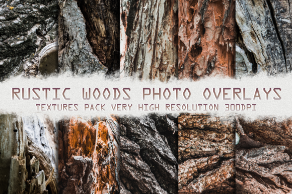 Digital Paper Rustic Natural Wood Graphic Nature By 2SUNSoverlays