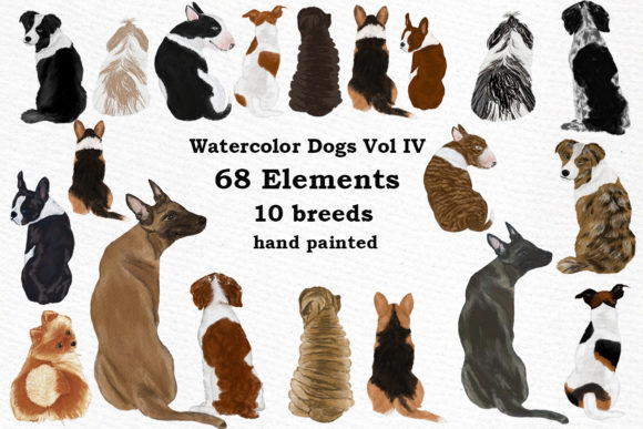 Dog Clipart, Dog Breeds, Pet Clipart Gráfico Ilustraciones Por LeCoqDesign