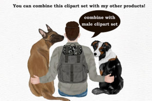 Print on Demand: Dog Clipart, Dog Breeds, Pet Clipart Graphic Illustrations By LeCoqDesign 8