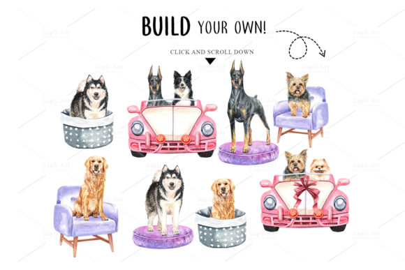 Print on Demand: Dog Watercolor Clipart Graphic Illustrations By SapG Art - Image 5