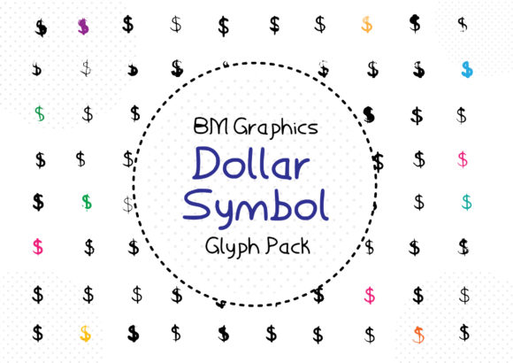Download Free Bm Graphics Dollar Symbols Font By Graphicsbam Fonts for Cricut Explore, Silhouette and other cutting machines.