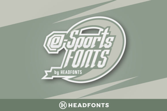 Print on Demand: ESports Family Display Font By Headfonts