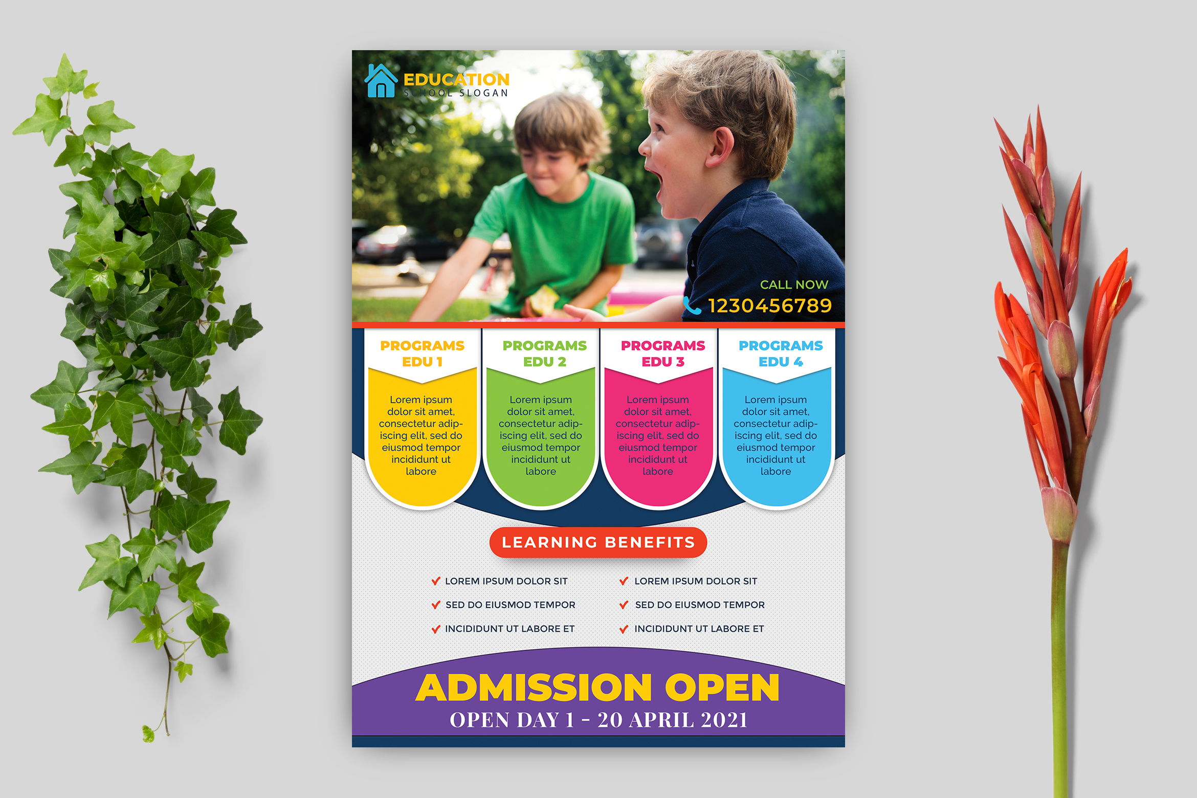 Download Free Education Flyer Template Graphic By Goku4501 Creative Fabrica for Cricut Explore, Silhouette and other cutting machines.