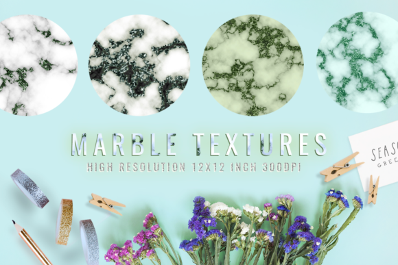 Emerald Digital Paper Marble Graphic Backgrounds By 2SUNS