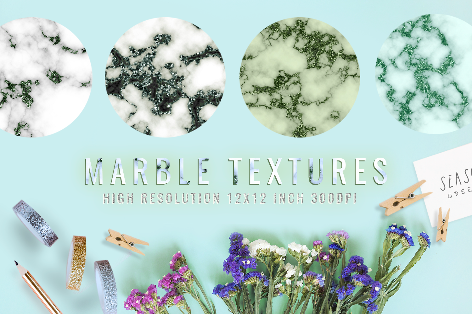 Download Free Emerald Digital Paper Marble Graphic By 2suns Creative Fabrica for Cricut Explore, Silhouette and other cutting machines.