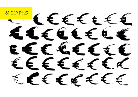 Print on Demand: BM Grpahics - Euro Symbol Dingbats Font By GraphicsBam Fonts - Image 2