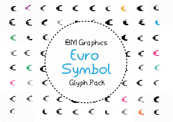 Print on Demand: BM Grpahics - Euro Symbol Dingbats Font By GraphicsBam Fonts - Image 1