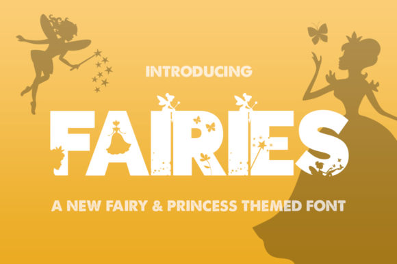 Print on Demand: Fairies Display Fuente Por Salt & Pepper Designs