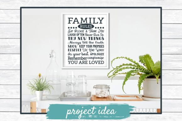 Download Free Family Rules Subway Art Grafico Por Funkyfrogcreativedesigns for Cricut Explore, Silhouette and other cutting machines.