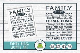 Family Rules Subway Art Graphic By funkyfrogcreativedesigns