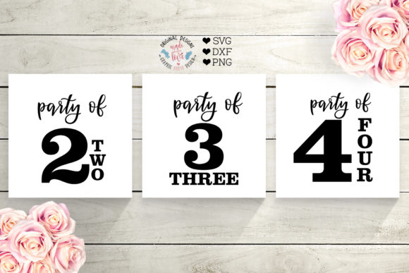 Print on Demand: Family Set Sign Party of... Graphic Crafts By GraphicHouseDesign - Image 2