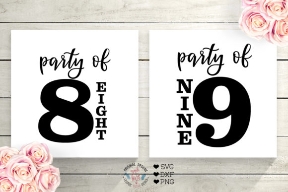 Print on Demand: Family Set Sign Party of... Graphic Crafts By GraphicHouseDesign - Image 4