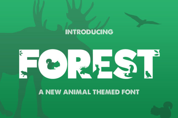 Print on Demand: Forest Display Font By Salt & Pepper Designs - Image 1