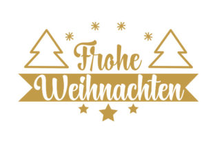 Frohe Weihnachten Germany Craft Cut File By Creative Fabrica Crafts