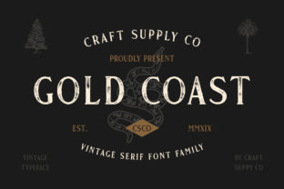 Gold Coast Font By craftsupplyco