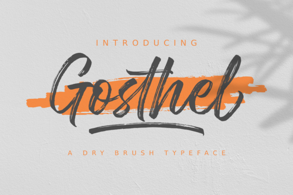 Print on Demand: Gosthel Script & Handwritten Font By Sibelumpagi Studio