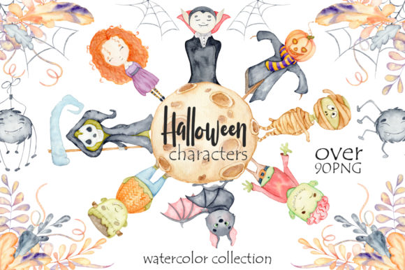 Halloween Characters Graphic Illustrations By EvgeniiasArt