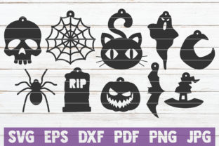 Download Free Halloween Earrings Cut Files Graphic By Mintymarshmallows SVG Cut Files