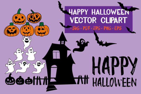 Happy Halloween Clip Art Set Graphic Crafts By masinong