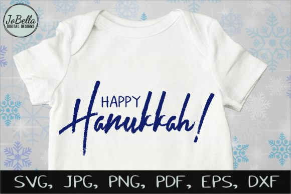 Download Free Happy Hanukkah Graphic By Jobella Digital Designs Creative for Cricut Explore, Silhouette and other cutting machines.