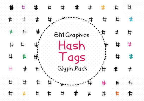 Print on Demand: BM Graphics - Hash Tags Dingbats Font By GraphicsBam Fonts