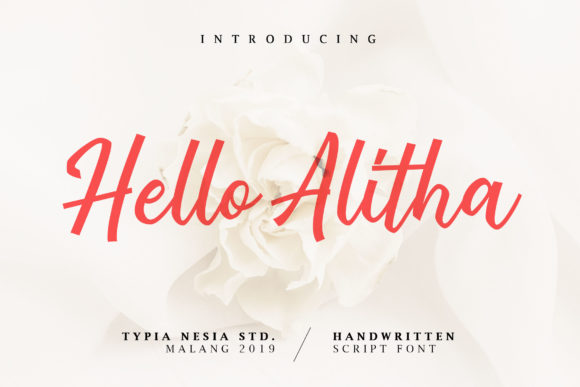 Print on Demand: Hello Alitha Script & Handwritten Font By Typia Nesia