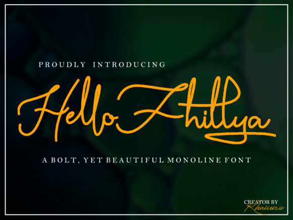 Print on Demand: Hello Fhillya Script & Handwritten Font By khaiuns