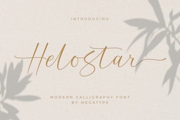Print on Demand: Helostar Script & Handwritten Font By Megatype