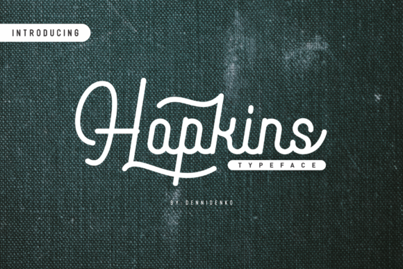 Print on Demand: Hopkins Script & Handwritten Font By dennidenko