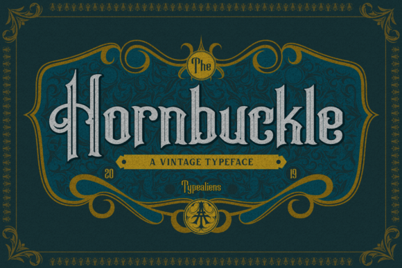 Hornbuckle Display Font By typealiens