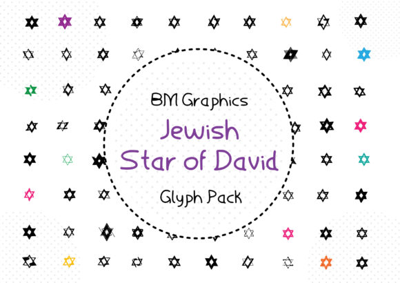 Print on Demand: BM Graphics - Jewish Star of David Dingbats Font By GraphicsBam Fonts