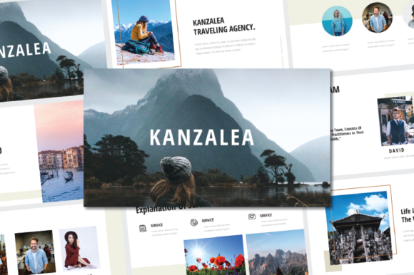 Print on Demand: Kanzalea Powerpoint Presentation Template Graphic Presentation Templates By nirmala.graphics