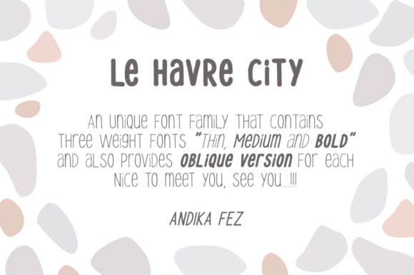 Print on Demand: Le Havre City Display Font By andikafez