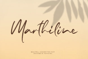 Print on Demand: Marthiline Script & Handwritten Font By motokiwo