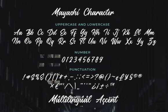 Print on Demand: Mayashi Script & Handwritten Font By Bangkit Setiadi - Image 4