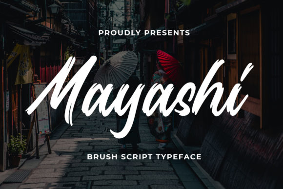 Print on Demand: Mayashi Script & Handwritten Font By Bangkit Setiadi - Image 1