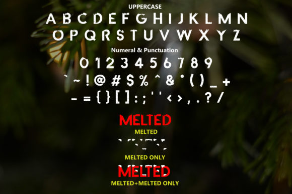 Melted Font By da_only_aan Image 2