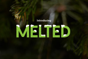 Melted Font By da_only_aan