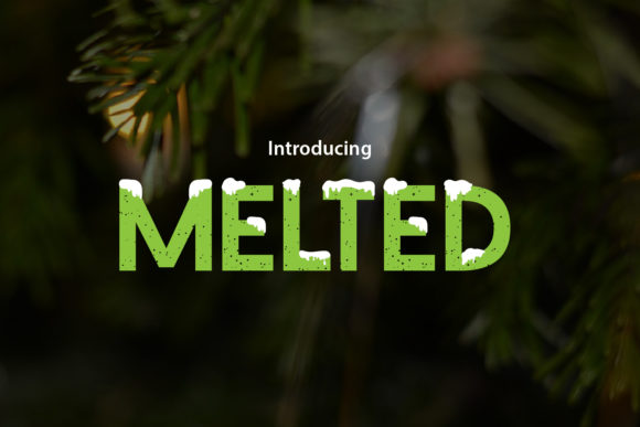 Melted Display Font By da_only_aan