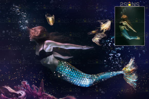 Mermaid Tail Overlays Graphic Objects By 2SUNS - Image 3