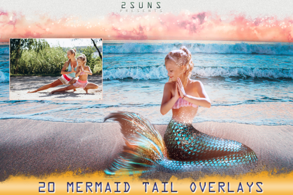 Mermaid Tail Overlays Graphic Objects By 2SUNS - Image 4