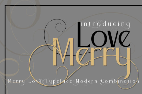 Print on Demand: Merry Love Sans Serif Font By jehansyah251