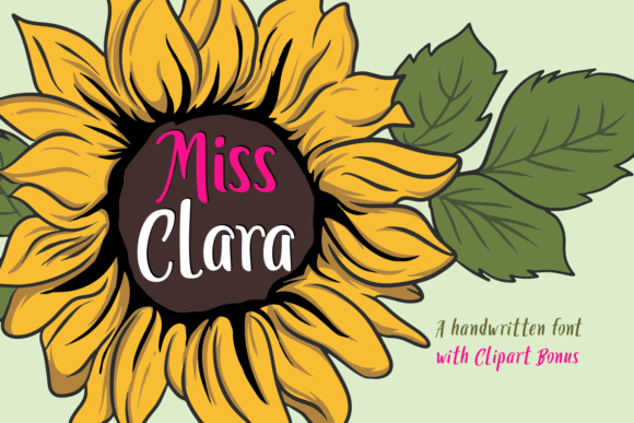 Print on Demand: Miss Clara Script & Handwritten Font By Dreamink (7ntypes)